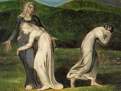Naomi Entreating Ruth and Orpah to Return to the Land of Moab-William Blake-Framed Giclee Print