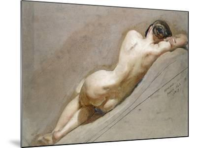 Life Study of the Female Figure-William Edward Frost-Mounted Giclee Print