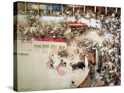 "The Little Bull Fight: ""Bravo Toro""-Arthur Melville-Stretched Canvas Print"