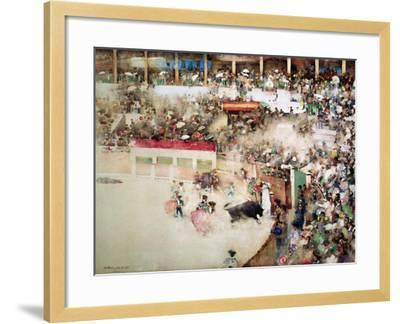 """The Little Bull Fight: """"Bravo Toro""""-Arthur Melville-Framed Giclee Print"""