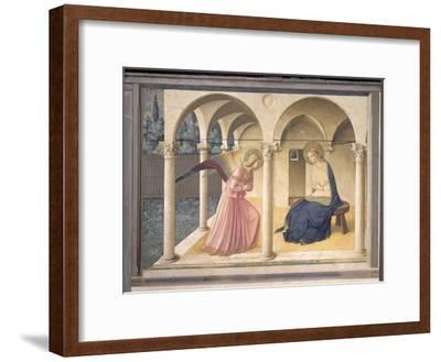 The Annunciation, circa 1438-45-Fra Angelico-Framed Giclee Print