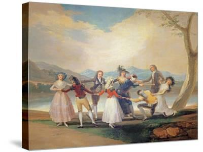 Blind Man's Buff, 1788-9-Francisco de Goya-Stretched Canvas Print