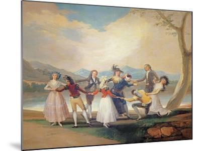 Blind Man's Buff, 1788-9-Francisco de Goya-Mounted Giclee Print