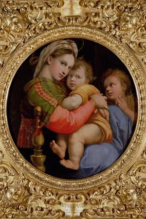 The Madonna of the Chair-Raphael-Stretched Canvas Print