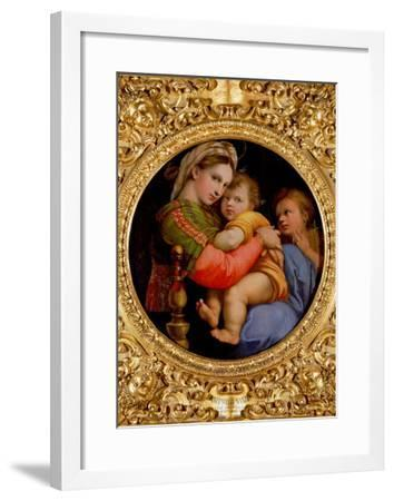 The Madonna of the Chair-Raphael-Framed Giclee Print