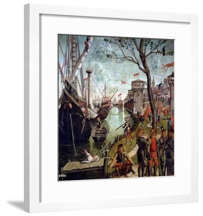 Arrival of St.Ursula During the Siege of Cologne, from the St. Ursula Cycle, 1498-Vittore Carpaccio-Framed Giclee Print