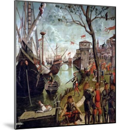 Arrival of St.Ursula During the Siege of Cologne, from the St. Ursula Cycle, 1498-Vittore Carpaccio-Mounted Giclee Print