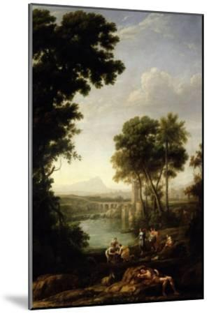Landscape with the Finding of Moses-Claude Lorraine-Mounted Giclee Print