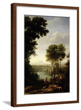 Landscape with the Finding of Moses-Claude Lorraine-Framed Giclee Print