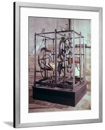 Cathedral Clock Made for the Tower in Salisbury Cathedral, Oldest Known Mechanical Timekeeper--Framed Giclee Print