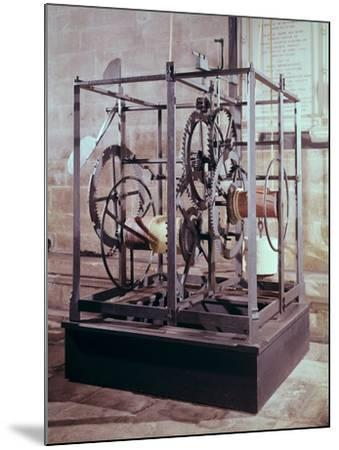Cathedral Clock Made for the Tower in Salisbury Cathedral, Oldest Known Mechanical Timekeeper--Mounted Giclee Print