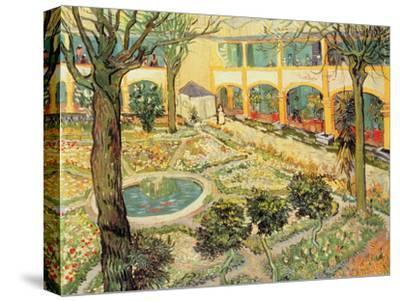 The Asylum Garden at Arles, c.1889-Vincent van Gogh-Stretched Canvas Print