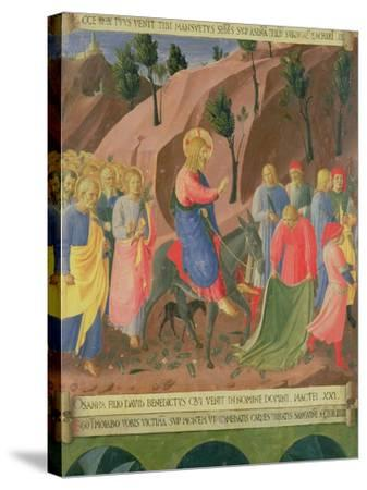 Entry of Christ into Jerusalem, Detail from Panel Three-Fra Angelico-Stretched Canvas Print
