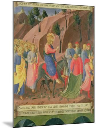 Entry of Christ into Jerusalem, Detail from Panel Three-Fra Angelico-Mounted Giclee Print