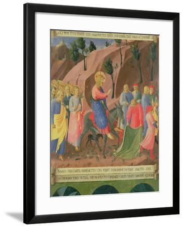 Entry of Christ into Jerusalem, Detail from Panel Three-Fra Angelico-Framed Giclee Print