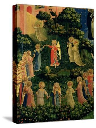 Detail of Heaven from the Last Judgement-Fra Angelico-Stretched Canvas Print