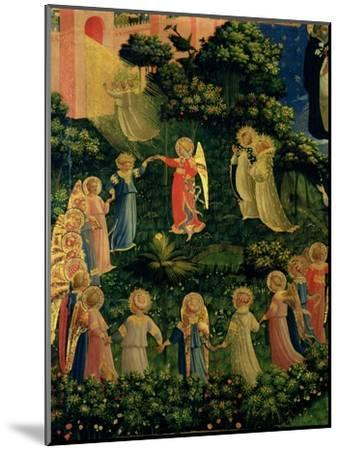 Detail of Heaven from the Last Judgement-Fra Angelico-Mounted Giclee Print