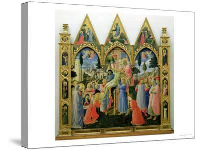 Santa Trinita Altarpiece, Frame and Pinnacles by Lorenzo Monaco Completed circa 1434-Fra Angelico-Stretched Canvas Print