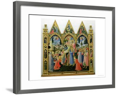 Santa Trinita Altarpiece, Frame and Pinnacles by Lorenzo Monaco Completed circa 1434-Fra Angelico-Framed Giclee Print