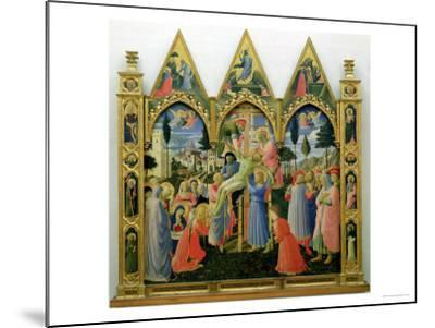 Santa Trinita Altarpiece, Frame and Pinnacles by Lorenzo Monaco Completed circa 1434-Fra Angelico-Mounted Giclee Print