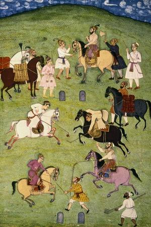 A Game of Polo, from the Large Clive Album--Stretched Canvas Print