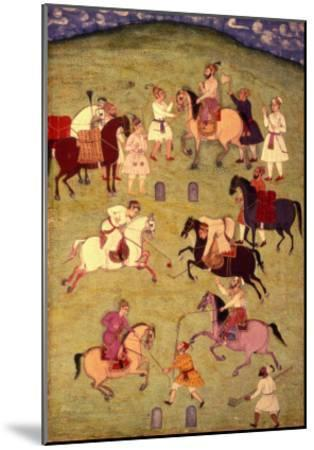A Game of Polo, from the Large Clive Album--Mounted Giclee Print
