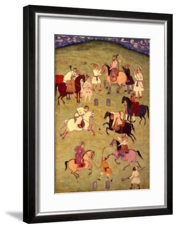 A Game of Polo, from the Large Clive Album--Framed Giclee Print