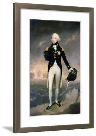 Portrait of Lord Nelson with Santa Cruz Beyond-Lemuel Francis Abbott-Framed Giclee Print