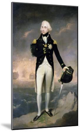 Portrait of Lord Nelson with Santa Cruz Beyond-Lemuel Francis Abbott-Mounted Giclee Print
