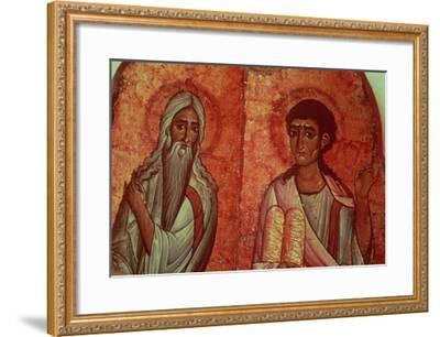 Moses with the Tablets of the Law, 6th Century Wallpainting--Framed Giclee Print