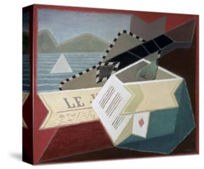 A Guitar Facing the Sea-Juan Gris-Stretched Canvas Print