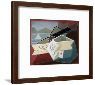 A Guitar Facing the Sea-Juan Gris-Framed Giclee Print