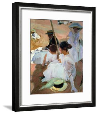 Under the Parasol, Zarauz, 1910-Joaqu?n Sorolla y Bastida-Framed Giclee Print