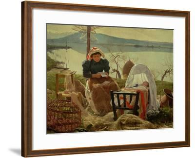 A Letter from Her Husband, 1895-Angel Andrade Blazguez-Framed Giclee Print