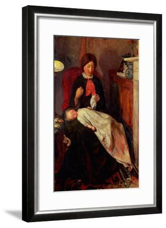 An English Fireside of 1854-5-Ford Madox Brown-Framed Giclee Print