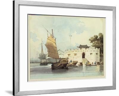 The Dutch Folly Fort off Canton-George Chinnery-Framed Giclee Print