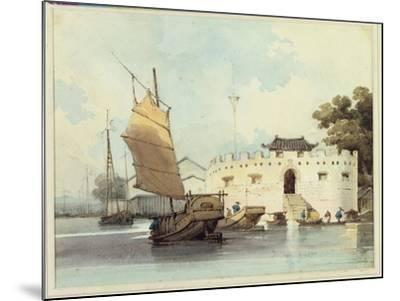 The Dutch Folly Fort off Canton-George Chinnery-Mounted Giclee Print