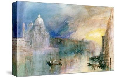 Venice: Grand Canal with Santa Maria Della Salute-J^ M^ W^ Turner-Stretched Canvas Print