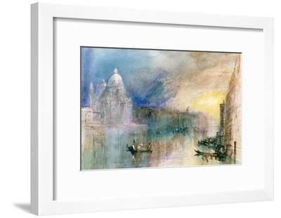 Venice: Grand Canal with Santa Maria Della Salute-J^ M^ W^ Turner-Framed Giclee Print