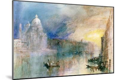 Venice: Grand Canal with Santa Maria Della Salute-J^ M^ W^ Turner-Mounted Giclee Print