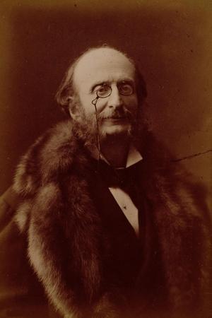 Jacques Offenbach, German Composer, Portrait Photograph-Nadar-Stretched Canvas Print
