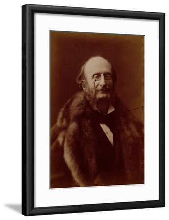 Jacques Offenbach, German Composer, Portrait Photograph-Nadar-Framed Giclee Print