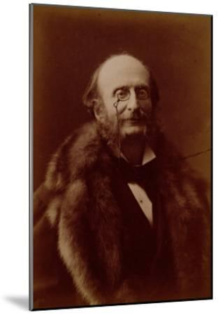 Jacques Offenbach, German Composer, Portrait Photograph-Nadar-Mounted Giclee Print