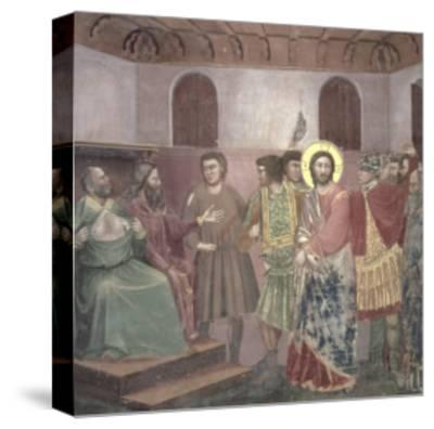 Christ Before Caiaphas, circa 1305-Giotto di Bondone-Stretched Canvas Print