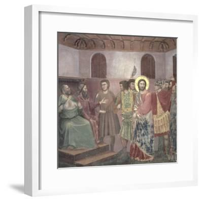 Christ Before Caiaphas, circa 1305-Giotto di Bondone-Framed Giclee Print