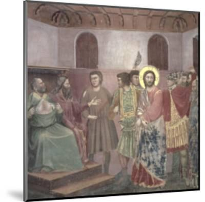 Christ Before Caiaphas, circa 1305-Giotto di Bondone-Mounted Giclee Print