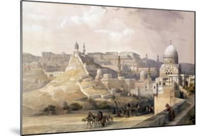 """The Citadel of Cairo, from """"Egypt and Nubia,"""" Vol.3-David Roberts-Mounted Giclee Print"""