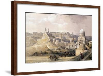 """The Citadel of Cairo, from """"Egypt and Nubia,"""" Vol.3-David Roberts-Framed Giclee Print"""