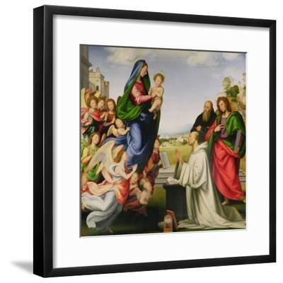 Apparition of the Virgin to St. Bernard-Fra Bartolommeo-Framed Giclee Print