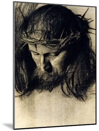 Head of Christ, circa 1890-Franz von Stuck-Mounted Giclee Print